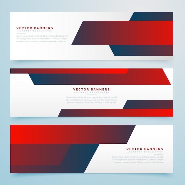 Elegant red banner design Vector | Premium Download