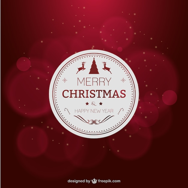 elegant red christmas card free vector - Elegant Christmas Cards