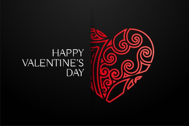 Elegant red decorative hearts background Free Vector