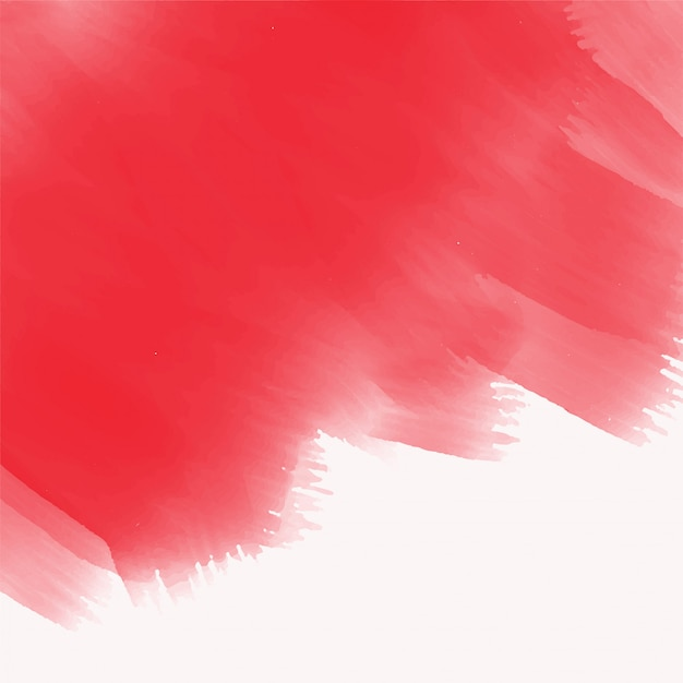 Elegant red watercolor brush stroke texture Free Vector
