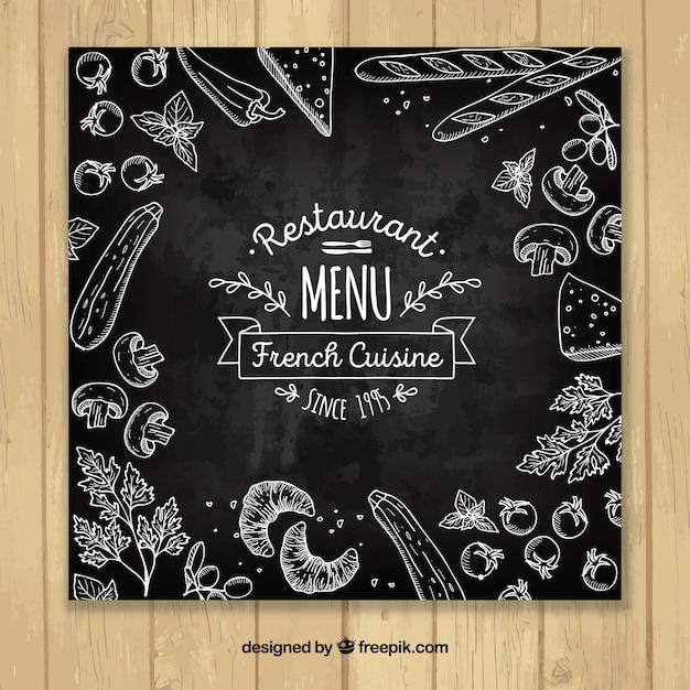 Elegant restaurant menu template Free Vector