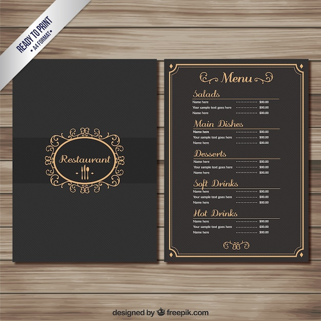 Black Rock Restaurant Menu