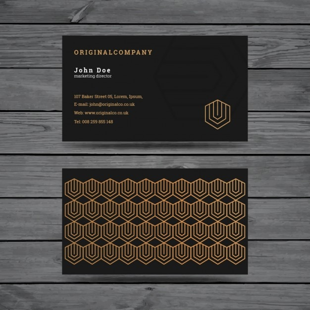 Elegant retro business card design vector free download elegant retro business card design free vector reheart Images