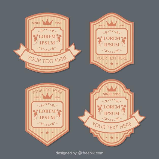 Elegant retro label pack