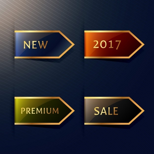 Elegant ribbons for premium products Free Vector