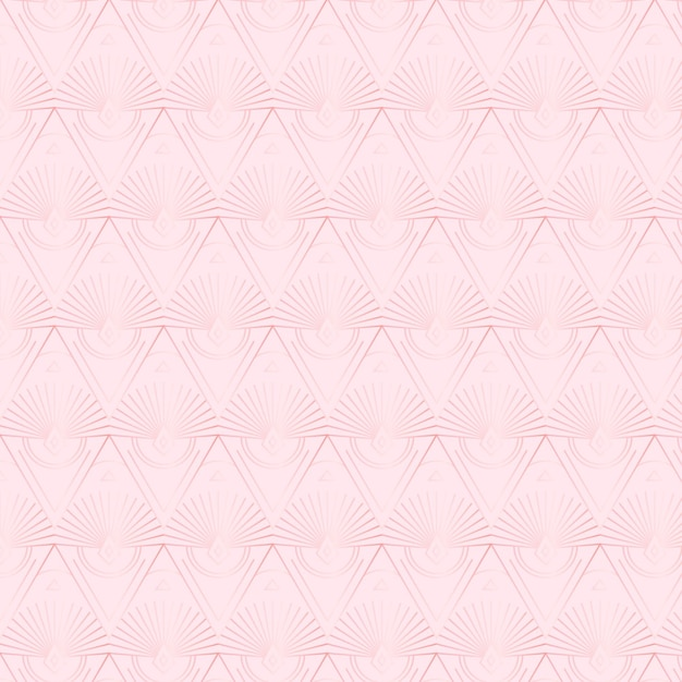 Elegant rose gold art deco repeated pattern Premium Vector