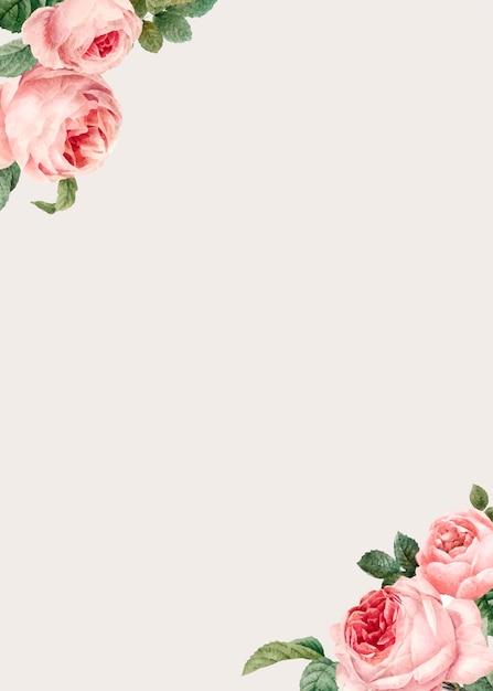 Элегантное розовое оформление пространства Бесплатные векторы