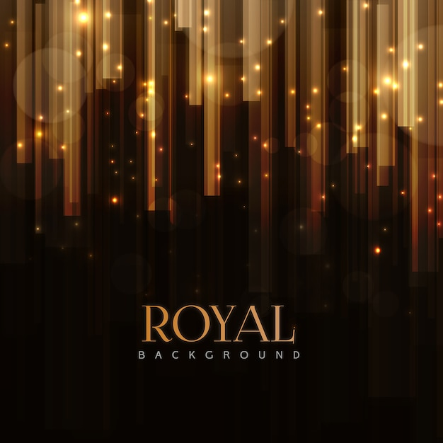 Elegant Royal background with Golden Bars Effect Premium Vector