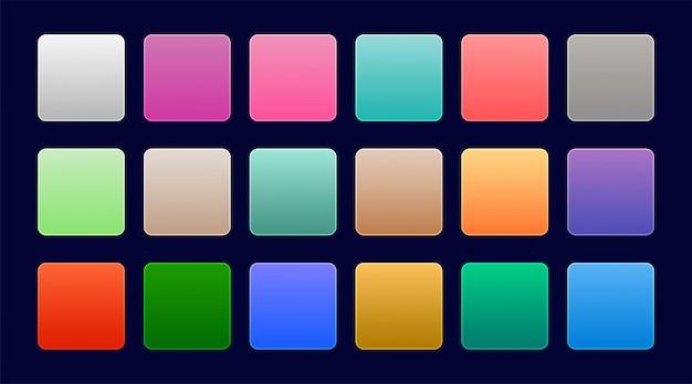 Elegant set of colorful web gradients Free Vector