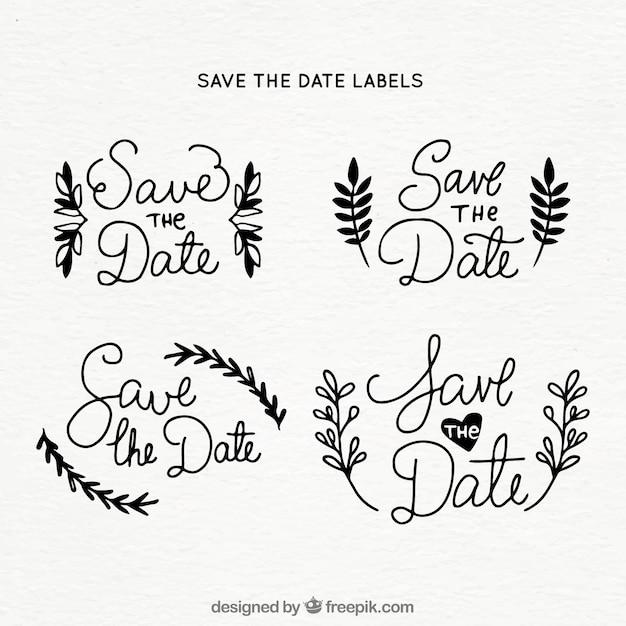 Elegant set of wedding labels