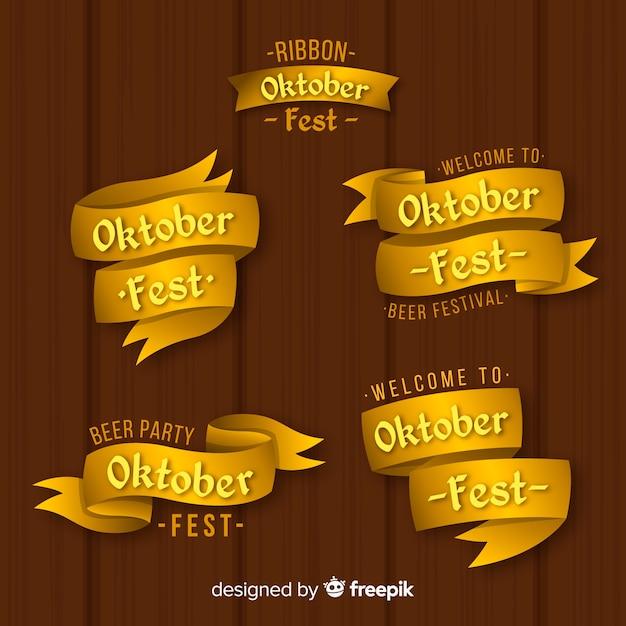 Elegant set of oktoberfest ribbons Free Vector
