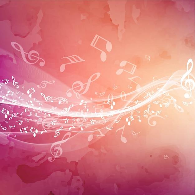 Elegant shiny music background Free Vector