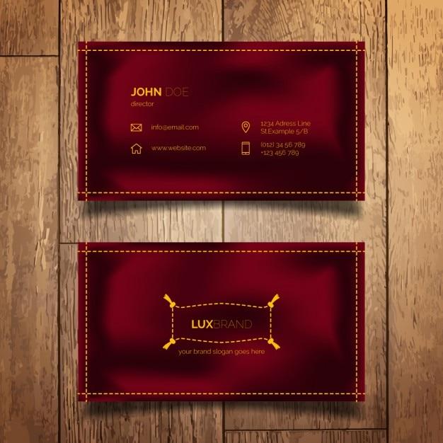 Elegant simple business card Free Vector