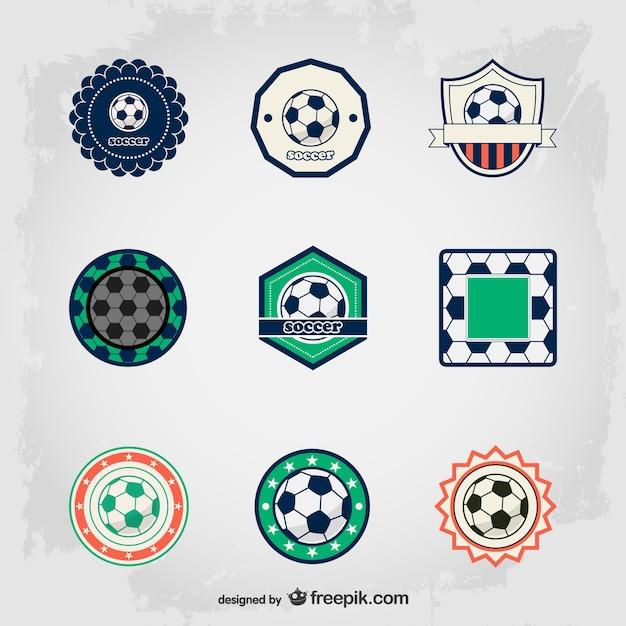 Elegant soccer ball badges