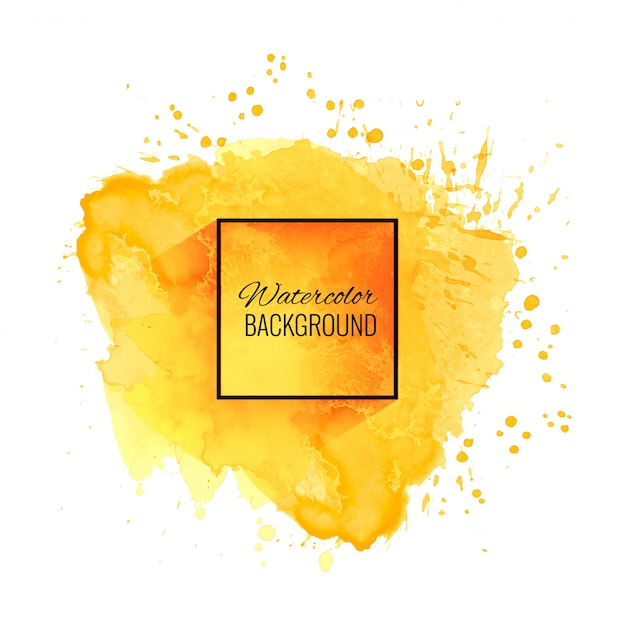 Elegant soft yellow watercolor background Free Vector