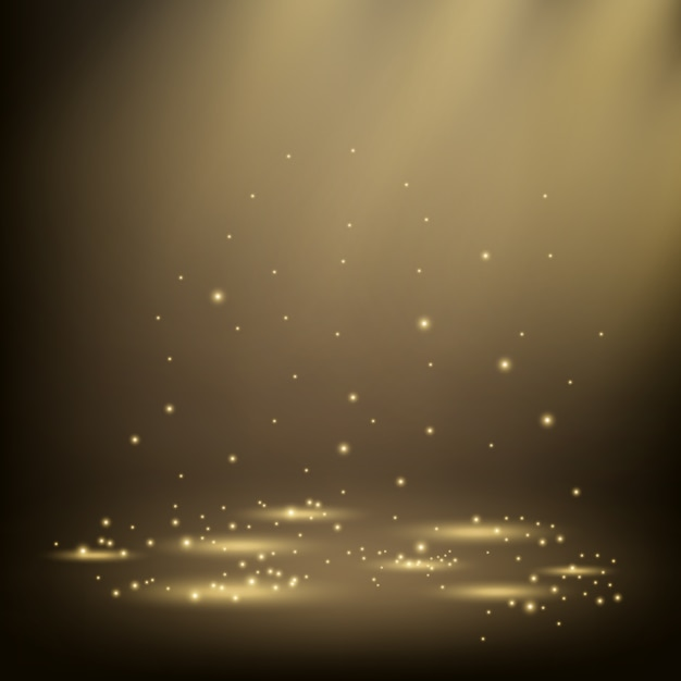 Elegant spotlights shining with sparkles Premium Vector