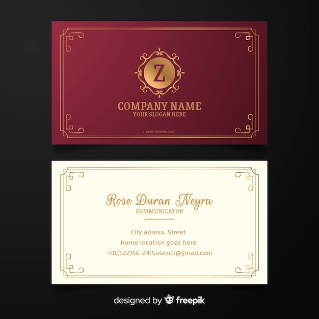 Elegant style business card template Free Vector