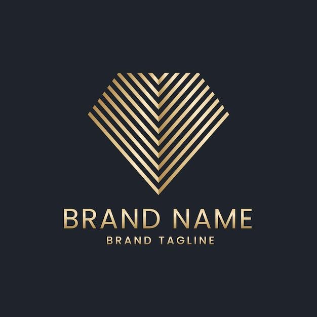 Elegant style diamond logo Premium Vector