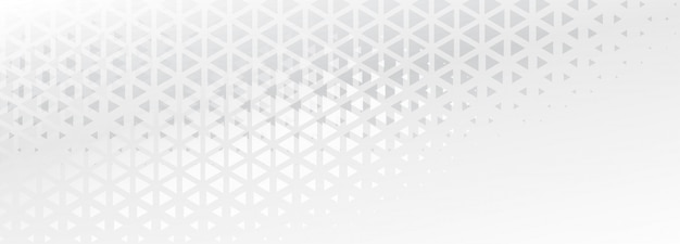 Elegant subtle triangle shapes abstract banner design Free Vector