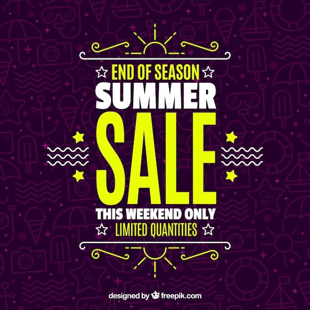 Elegant summer sale background Free Vector
