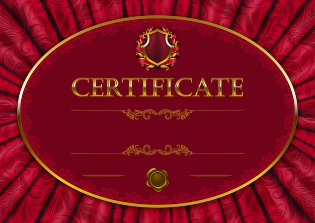 Elegant template of certificate Premium Vector