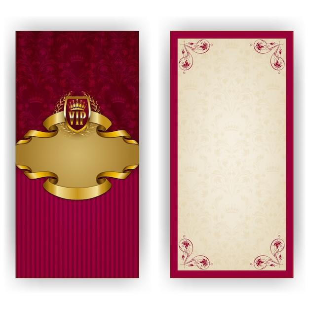Elegant template for luxury invitation greeting card Premium Vector