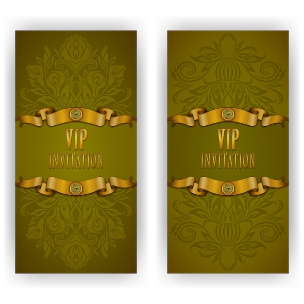 Elegant template luxury invitation, greeting vip card Premium Vector
