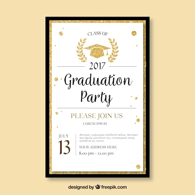 Elegant Template Of Graduation Party Brochure Vector  Free Download