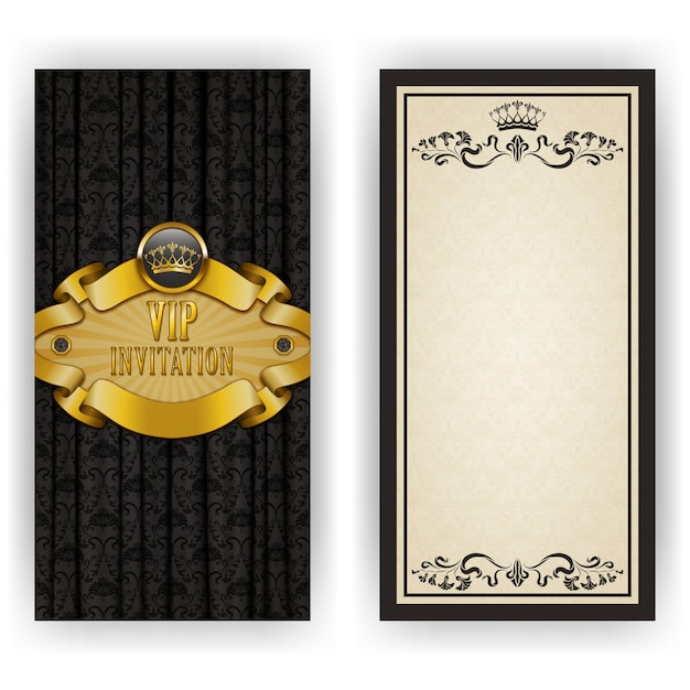 Elegant template for vip luxury invitation Premium Vector