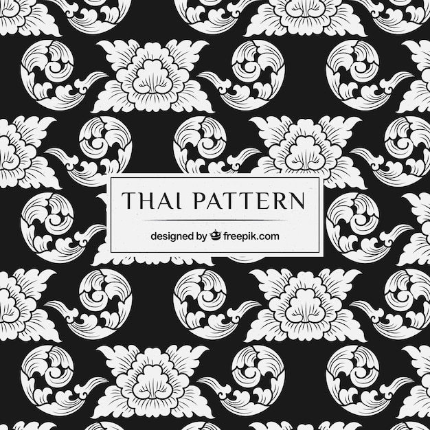 Elegant thai pattern Free Vector