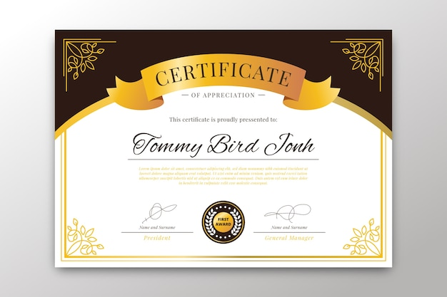 Elegant theme for certificate template Free Vector