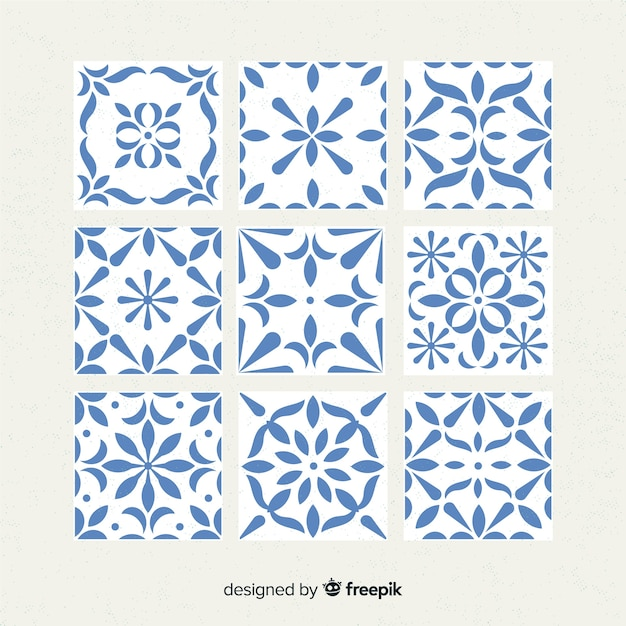 Elegant tile collection Free Vector
