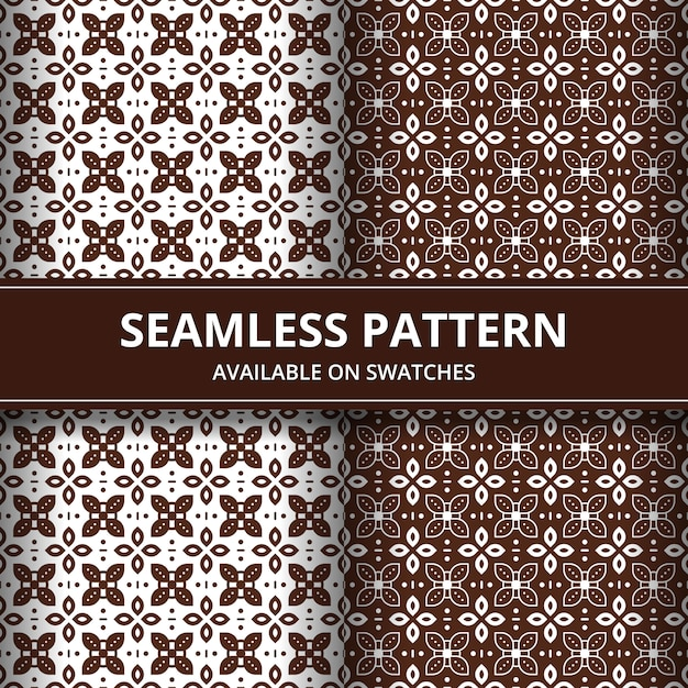 Elegant traditional batik seamless pattern background. luxury and classic motif for backdrop wallpaper. Premium Vector