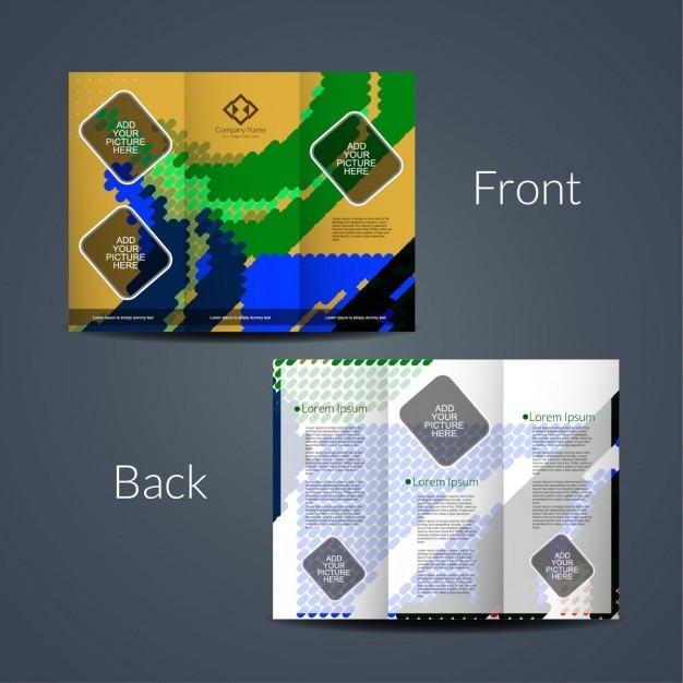elegant brochure template - elegant tri fold brochure template vector free download