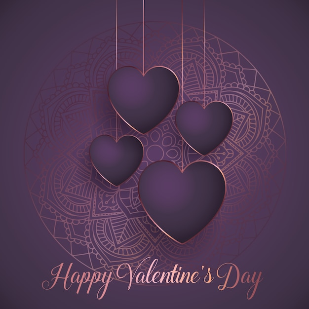 Elegant valentine's day background Premium Vector