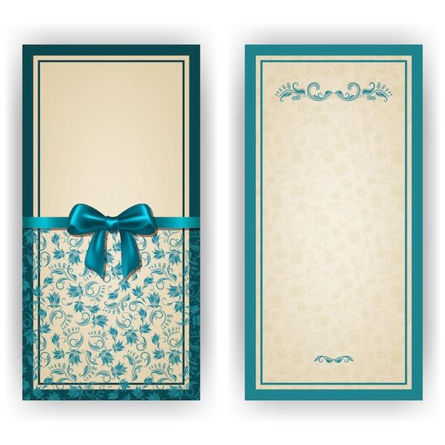 Elegant vector template for luxury invitation card Premium Vector
