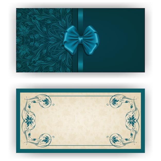 Elegant vector template for luxury invitation Premium Vector