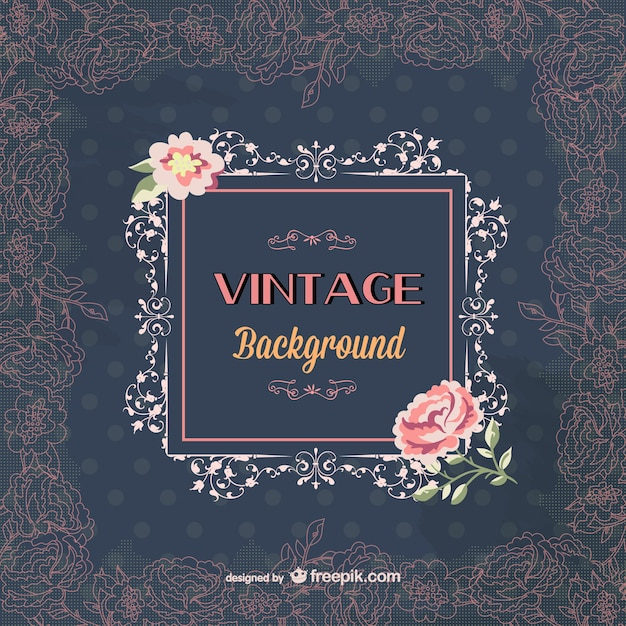 Elegant Vintage Background Template Vector Free Download