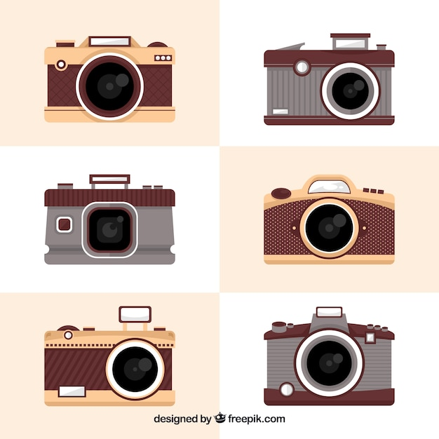 Elegant vintage camera collection