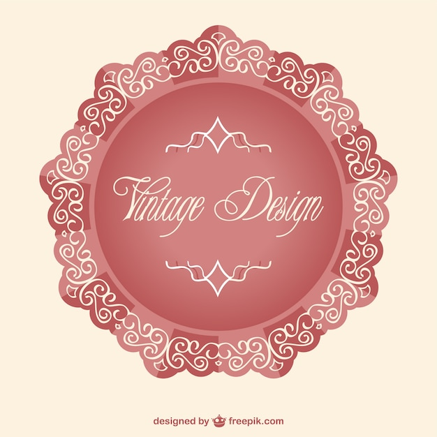 elegant vintage label vector free download