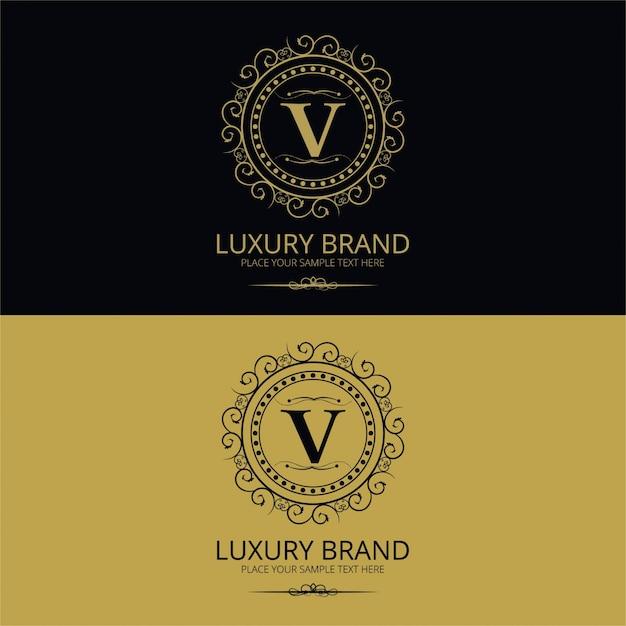 Elegant vintage letter v logo Free Vector