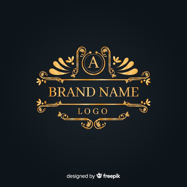 Elegant vintage ornamental logo Free Vector