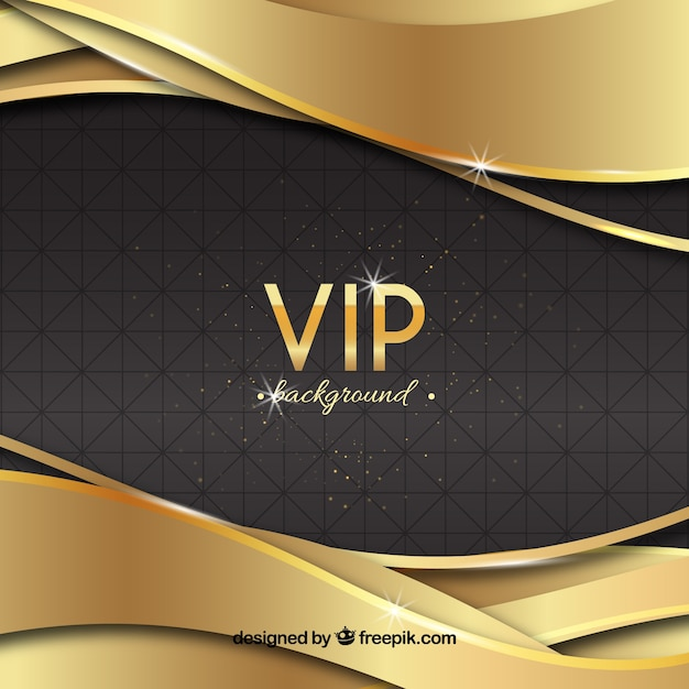 Elegant vip background with golden waves