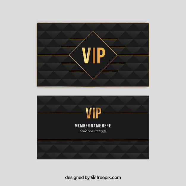 Elegant vip pass with golden style