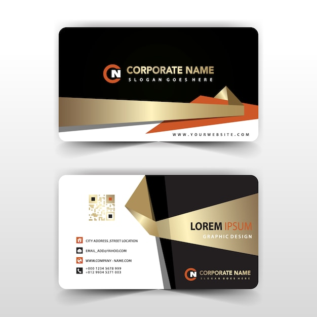 Elegant Visit Card Illustration Vector  Free Download