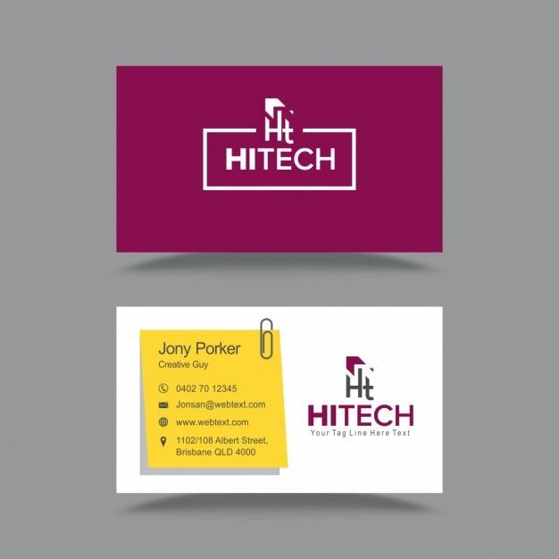 Elegant Visiting Card Vector : Free Download