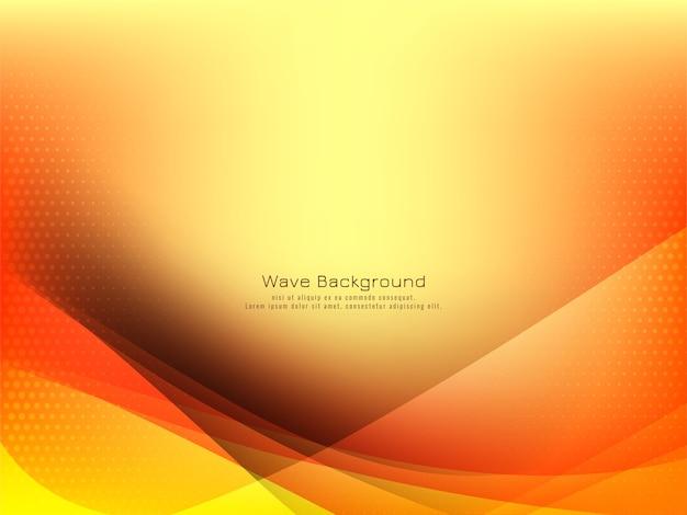 Элегантный дизайн волны ярко-желтый фон Бесплатные векторы