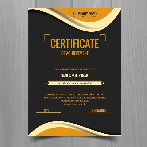 elegant wavy certificate template vector free download