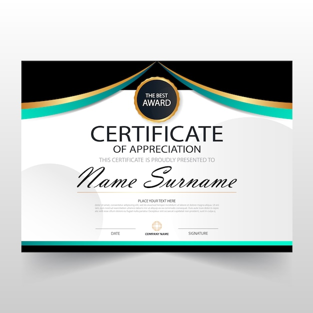 Gift certificate vectors photos and psd files free download elegant wavy horizontal certificate template yelopaper Image collections