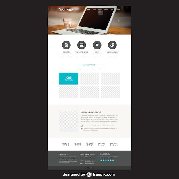 Elegant website template vector premium download elegant website template premium vector maxwellsz